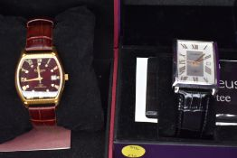 Two gent's fashion wrist watches by Amadeus & Decennis
