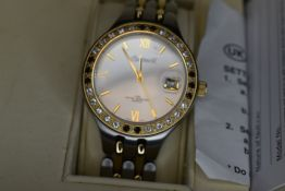 A gent's Ingersoll Gems IG0016FL wrist watch having stone set bezel with gold plated and steel