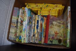 A good selection of vintage childrens Rupert Bear story books and annuals
