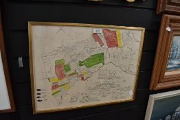 An award plan map for Westmorland grazing at Knock