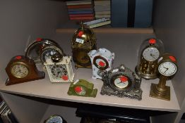 A selection of ten clocks of various styles and makes