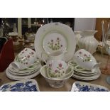 A part tea service by Tuscan china in the Meadowsweet design