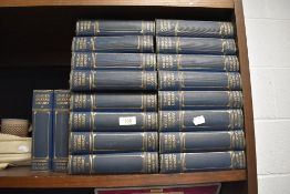 A library set of hard back book volumes for the Charles Dickens Library eighteen volumes in total