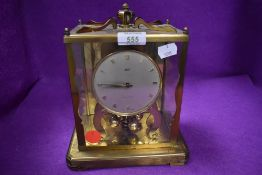 An Aug. Shatz & Sohne of Germany 1000 day square carriage clock