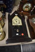 An Ansonia Clock Co, America 8 day steeple clock