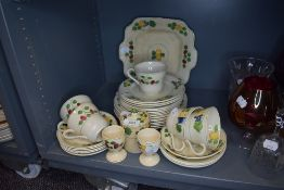 A good selection of tea and cake wares by Adams Titan Ware side plates cups and saucers etc
