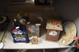 A selection of clocks various makes and styles