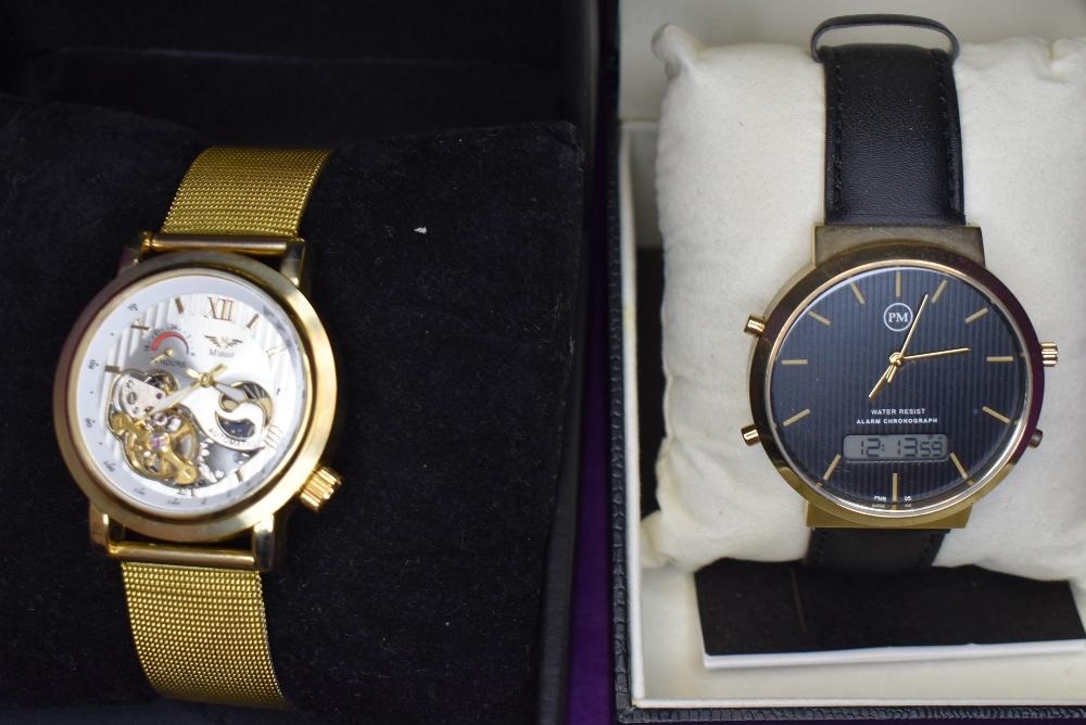 A gent's wrist watch by Philip Mercier & an automatic wrist watch by Minoir