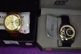 Two gent's fashion wrist watches by Moscow Time & GT Precision