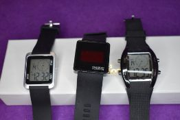 Three gent's smart watches by Atlas for men