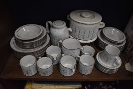 A selection of Hornsea pottery tea and table wares in the Charisma design