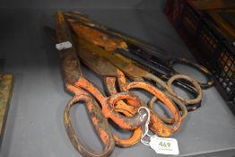 Five sets of large size haberdashery or similar scissors