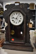 An American carved frame wall clock