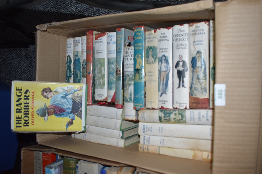 A selection of adventure action and detective story books including Oliver Strange