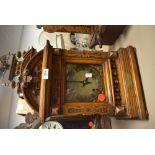 A 19th Century German carved mantel clock