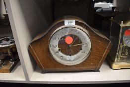 A Smiths mid Century mantel clock