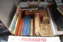 A selection of text and reading books including Beatrix Potter and Laurie Lee