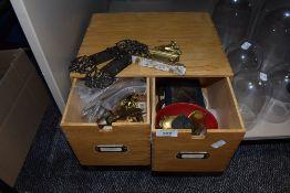 A box of clock parts