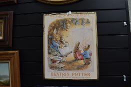 A vintage advertising print poster for Beatrix Potter for Benjamin Bunny