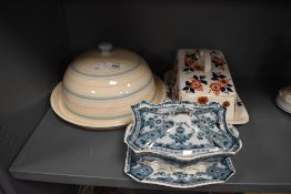 A John Lewis ceramic cheese dome an imari styled cheese dome and similar tureen