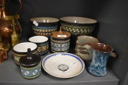 A selection of local interest studio pottery from Ambleside also Stramongate Hall dish