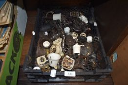 A selection of various bakelite light switches fixtures and fittings