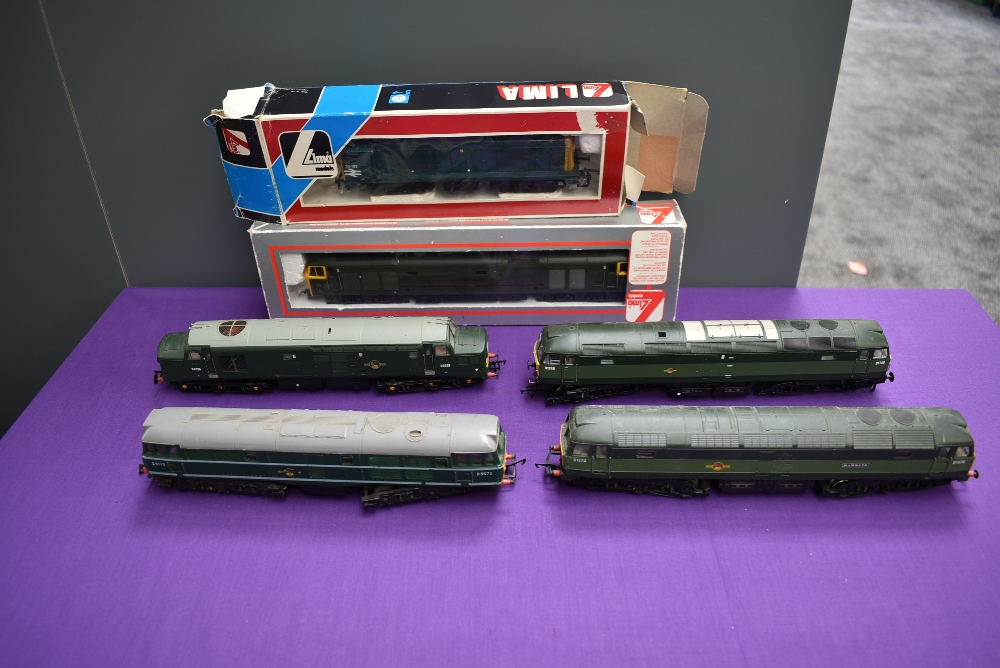 Two Lima 00 gauge Diesel Locomotives Sir Edward Elgar and BR20193, both boxed along with four