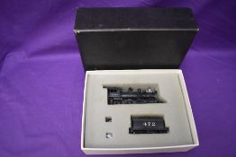 A Hallmark Models Inc made by Dongjin HO scale AT & SF 4-6-0 Loco & Tender 472 in original box 468