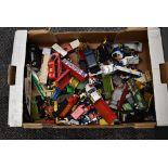 A box of playworn Diecasts including Matchbox, Corgi, Days Gone etc