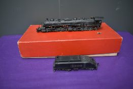 A Katsumi Westside Model Company American Brass HO scale 2-10-10-2 AT & SF Loco & Tender 3009, in