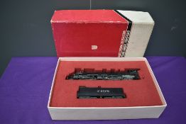 A Samhongsa Westside Model Company American Brass HO scale 4-4-6-2 AT & SF Loco & Tender 1398, in