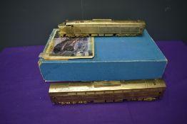 A KMT American Brass HO scale Diesel Locomotive Set, unpainted, in original box