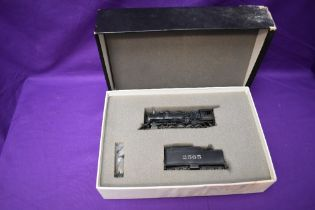 A Hallmark Models Inc made by Dongjin HO scale AT & SF 2-10-0 Loco & Tender 2565 in original box