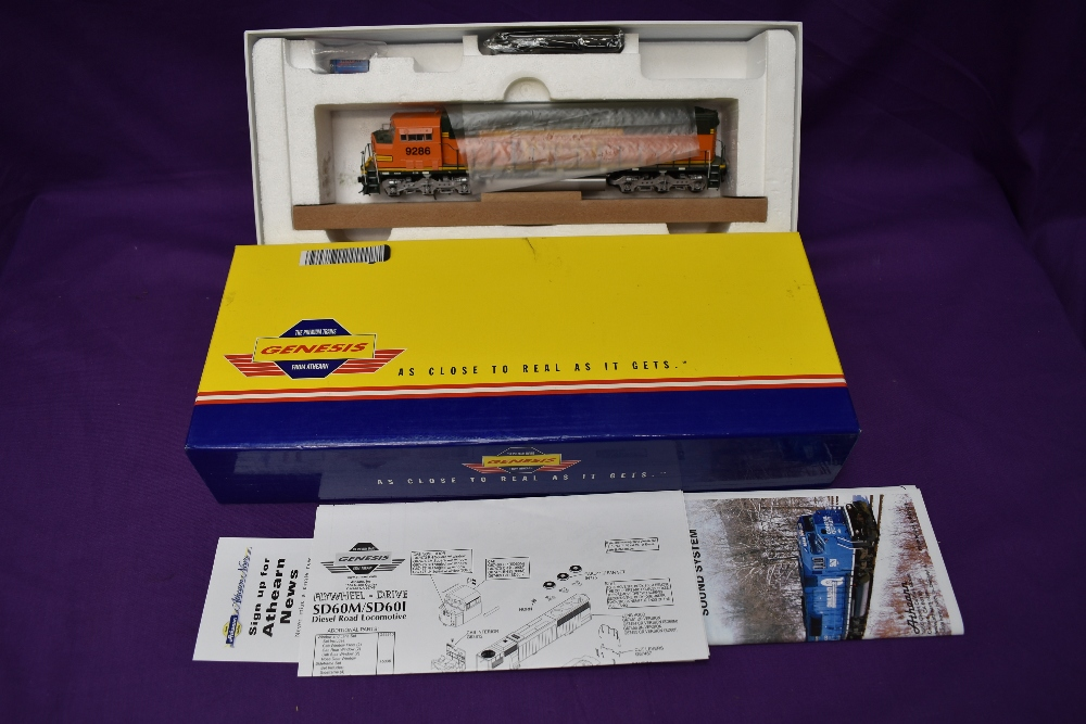 A Athearn Genesis HO scale BNSF SD60M Locomotive 9286, in original box G67364E