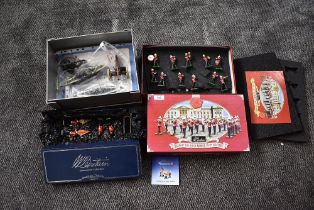 Two modern Britains sets, Scots Guards Colour Party & Sentry Box, boxed 00091 & Band of the Royal