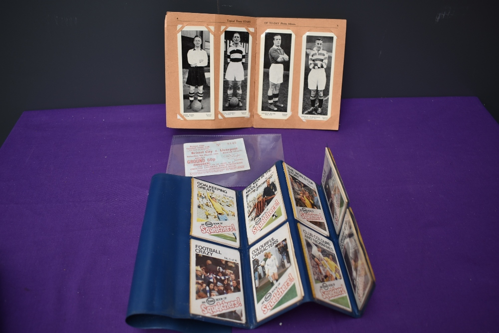 A Topical Times Stars of Today Photo Album containing 24 black & white photo cards of Scottish