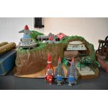 A ITC Entertainment Group Limited, Thunderbirds, Large Tracy Island play set with vehicles TB1 x2/