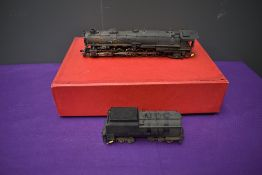 A Samhongsa Key Imports American Brass HO scale 4-12-2 Union Pacific Bald Face Loco & Tender 9013,