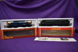 Two Hornby 00 gauge Locomotives, Class 37 BR Co-Co Diesel D6721, boxed R284 and Class 25 BR Bo Bo