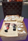 A Kingmaker Chess Set Ltd , Rorke's Drift Chess Set-hand painted, limited edition 51/500 with wooden