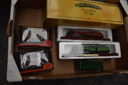 A Hornby 00 scale wooden model, City of Birmingham, on plinth in original box HT01C along with two
