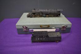 A Samhongsa American Brass HO scale 2-8-8-2 Santa Fe Mallet Loco & Tender 1793, in non original