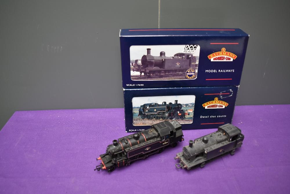 Two Bachmann 00 gauge BR 2-6-2 & 0-6-0 Tank Locomotives, Ivatt 41304 & Jinty 47472, both boxed 31-