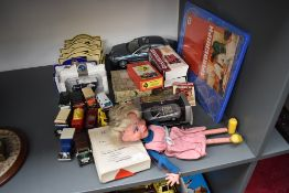 A selection of mixed Toys including a Pelham Puppet, Girl having moveable mouth and wearing pink