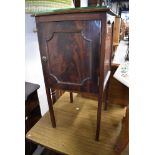 A late 19th or early 20th Century mahogany pot cupboard