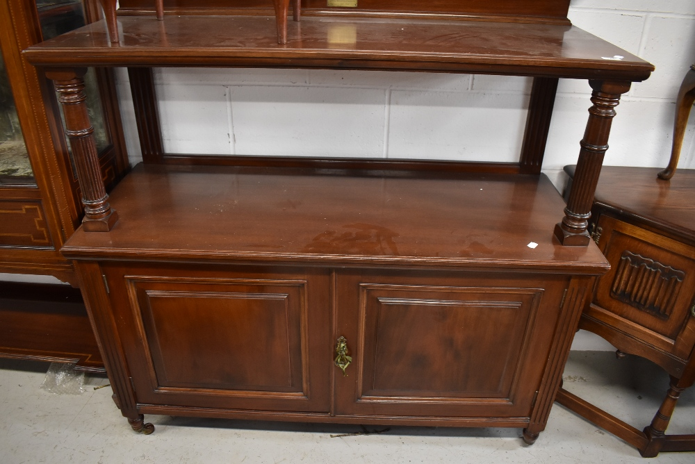 An early 20th Century buffet labelled by Maple &Co having been presented by the Bersted Church