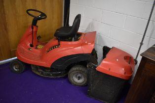 A Castel Garden Twin cut ride on lawn mower
