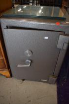 A modern heavy set Chubb fire resistant safe