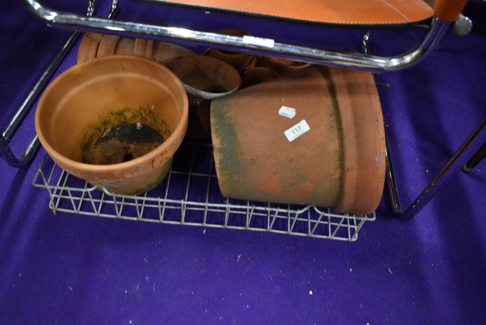 A selection of terracotta plantpots