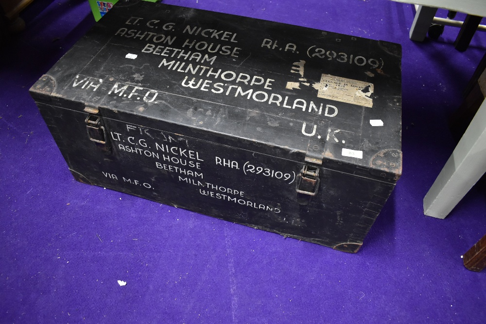 A local interest storage box Beetham Milnthorpe Westmorland